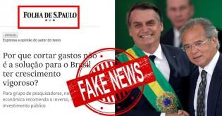 """Folha faz matéria vergonhosa, diz que """"cortar gastos não é solução"""" e tem que que publicar """"errata"""""""