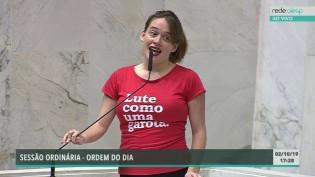 Deputada do PSOL tenta chocar com palavras de baixo calão, vira meme e pode ser cassada (veja o vídeo)