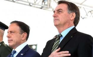 No reencontro entre Dória e Bolsonaro, o presidente é aplaudido e o governador vaiado (Veja o Vídeo)