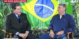 """Bolsonaro elogia candidatura Datena e apresentador retribui: """"Saio pelo partido que ele for"""""""