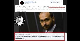 """Imprensa se """"assusta"""" após Eduardo Bolsonaro dizer o óbvio: """"comunismo matou mais que o nazismo"""""""