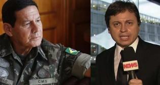 Mourão responde a jornalista da Globo News: 'Nós vamos chegar ao responsável', sobre óleo em praias no Nordeste (veja o vídeo)
