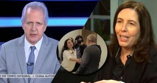 Mônica Bergamo sai em defesa de Lula e leva invertida de Augusto Nunes