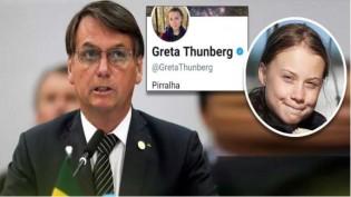 """Greta provoca Bolsonaro, adota """"pirralha"""" em redes sociais e ganha visibilidade na mídia. Entenda porque..."""