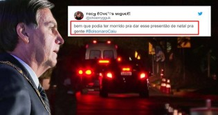 Intolerantes, militantes de esquerda comemoram acidente doméstico de Bolsonaro e levam resposta devastadora