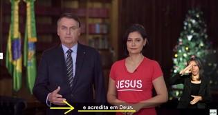 Em rede Nacional, Bolsonaro e Michelle exaltam o nome de Deus e mandam mensagem ao povo Brasileiro