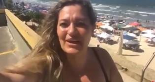 """Com praia cheia, corretora de imóveis comemora recuperação do setor em 2019: """"Culpa do Bolsonaro"""" (veja o vídeo)"""
