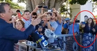 """""""Folha está fora! A Folha é um lixo!"""": Indignado Bolsonaro se recusa a responder jornalista da Folha de S. Paulo (veja o vídeo)"""