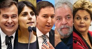 """Vergonhosamente Maia se junta a Manu, Dilma e Lula e sai """"correndo"""" na defesa de Glenn"""