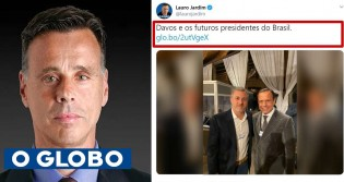 "Colunista de O Globo se refere a Doria e Huck como ""futuros presidentes do Brasil"""