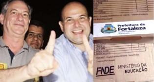 Prefeitura de Fortaleza (PDT) é flagrada omitindo a logomarca do Governo Federal em kit escolar, mas diz que material foi pago inteiramente com recurso do Tesouro Municipal