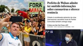 "A imprensa ""isentíssima"": Bolsonaro cumprimenta eleitores: irresponsabilidade. China esconde vírus: acidente"