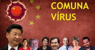 """Comunavírus: Obra do acaso ou, o coronavírus tem toda pinta de """"comunista""""? (veja o vídeo)"""