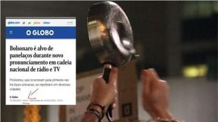 """Notícia sobre o """"panelaço"""" pega no flagrante a parcialidade da Globo"""