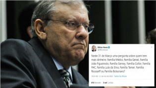 Milton Neves causa polêmica ao indagar na internet qual a família mais rica entre os ex-presidentes