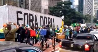 18 de abril: São Paulo se levanta e faz gigantesca carreata pelo trabalho e pela vida (veja o vídeo)