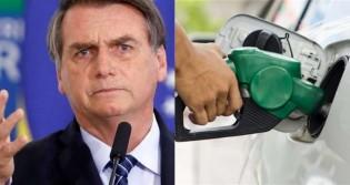 """Bolsonaro escancara diferença no preço de combustíveis: """"Gasolina a R$ 0,91 nas refinarias"""""""