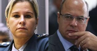 """Witzel ataca Bolsonaro e recebe resposta esmagadora de major Fabiana: """"Preocupe-se em não ser preso"""""""