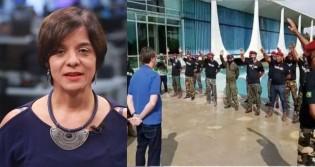Vera Magalhães zomba de oração a Bolsonaro e faz insinuação maldosa