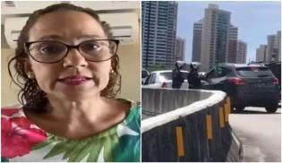 Empresária revoltada acusa PM de Camilo Santana de obrigá-la a entregar a bandeira do Brasil (veja o vídeo)