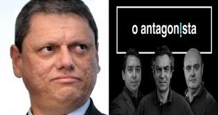 Tarcísio desmente cabalmente 'fake news' de O Antagonista