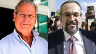 """Dirceu, criminoso, chamou futuro presidente do STF de """"charlatão"""" e está solto, mas querem prender Weintraub (veja o vídeo)"""