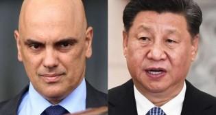 "Xi Jinping, lá, e Alexandre, ""o pequeno"", aqui"