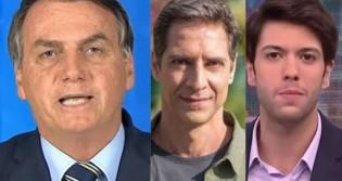 Bolsonaro elogia e sai em defesa de Lacombe, Coppola, Constantino e Narloch