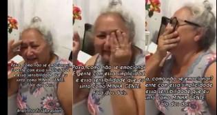 """Idosa se emociona após mensagem de Bolsonaro: """"Eu te amo meu presidente"""" (veja o vídeo)"""