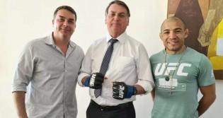 Bolsonaro recebe visita de José Aldo (veja o vídeo)