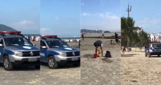 Famílias são expulsas da praia pela Guarda Municipal de Santos (veja o vídeo)