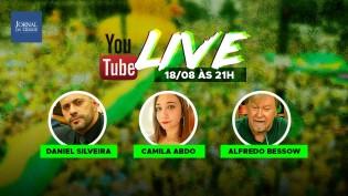 Deputado Daniel Silveira e jornalista Alfredo Bessow são destaques na primeira live da TV Jornal da Cidade Online