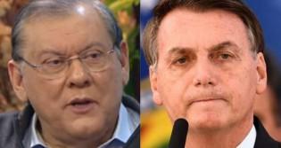 Bolsonaro presta condolências a Milton Neves, que acaba de perder a esposa para o câncer