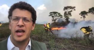 """Desmontando falácias da esquerda, Salles vai pessoalmente para o """"combate"""" no Pantanal (veja o vídeo)"""
