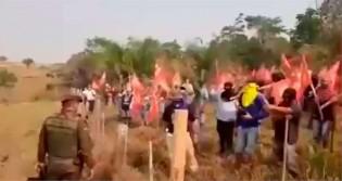 Invasores do MST confrontam policiais e efetuam disparos (veja o vídeo)