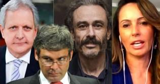 """Augusto Nunes, Fiuza e Ana Paula detonam o """"fim de carreira"""" de Lindbergh (veja o vídeo)"""