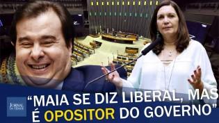 """""""É lamentável o presidente de um poder usar o cargo para atrapalhar o Brasil"""", afirma deputada (veja o vídeo)"""