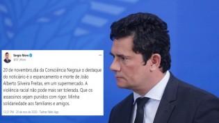 Quem diria, Moro também tenta 'lacrar' com a narrativa de racismo no caso João Alberto