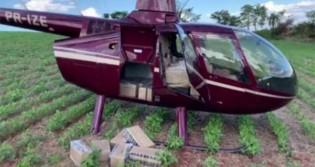 Polícia Federal apreende 430 kg de cocaína em Helicóptero no interior do PR