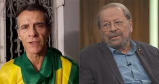 """Ex-ator Mário Gomes """"lava a alma"""" dos brasileiros em áudio que repreende o ator Carlos Vereza (veja o vídeo)"""
