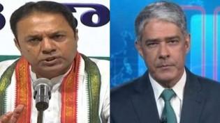 """O humilhante """"cala a boca"""" do embaixador da Índia em William Bonner (veja o vídeo)"""