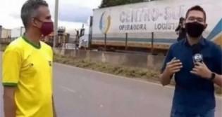 Ao vivo, equipe do SBT é agredida em cobertura de manifestação (veja o vídeo)