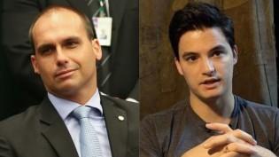 """Felipe Neto """"chora"""" por perda de contrato e toma resposta fulminante de Eduardo Bolsonaro"""