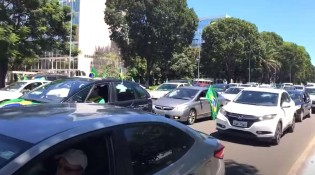 Brasília para com Mega Carreata pela liberdade (veja o vídeo)