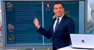 """Ao vivo, apresentador da Globo é acusado de xenofobia e, irritado, dá """"piti"""" (veja o vídeo)"""