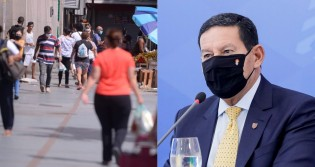 """Mourão ironiza passaporte sanitário: """"Vai ter falsificação do passaporte, venda no camelô"""""""