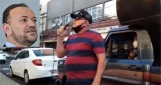 """Morador confronta prefeito Edinho Silva: """"Acho que você devia ter vergonha na cara e descer e enfrentar os araraquarenses"""" (veja o vídeo)"""