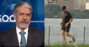 """Com """"medo"""" da reação do povo, Bonner revela que parou de correr (veja o vídeo)"""