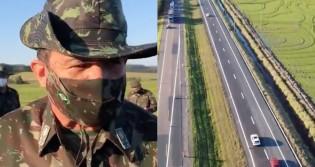 Um verdadeiro tapete: Exército conclui mais um trecho da BR 116 (veja o vídeo)