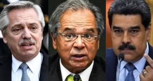 """Paulo Guedes critica Argentina e faz alerta importante: """"Está seguindo o mesmo caminho da Venezuela"""""""